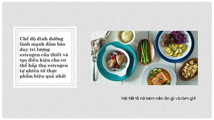 Nội tiết tố nữ kém nên ăn gì? 1